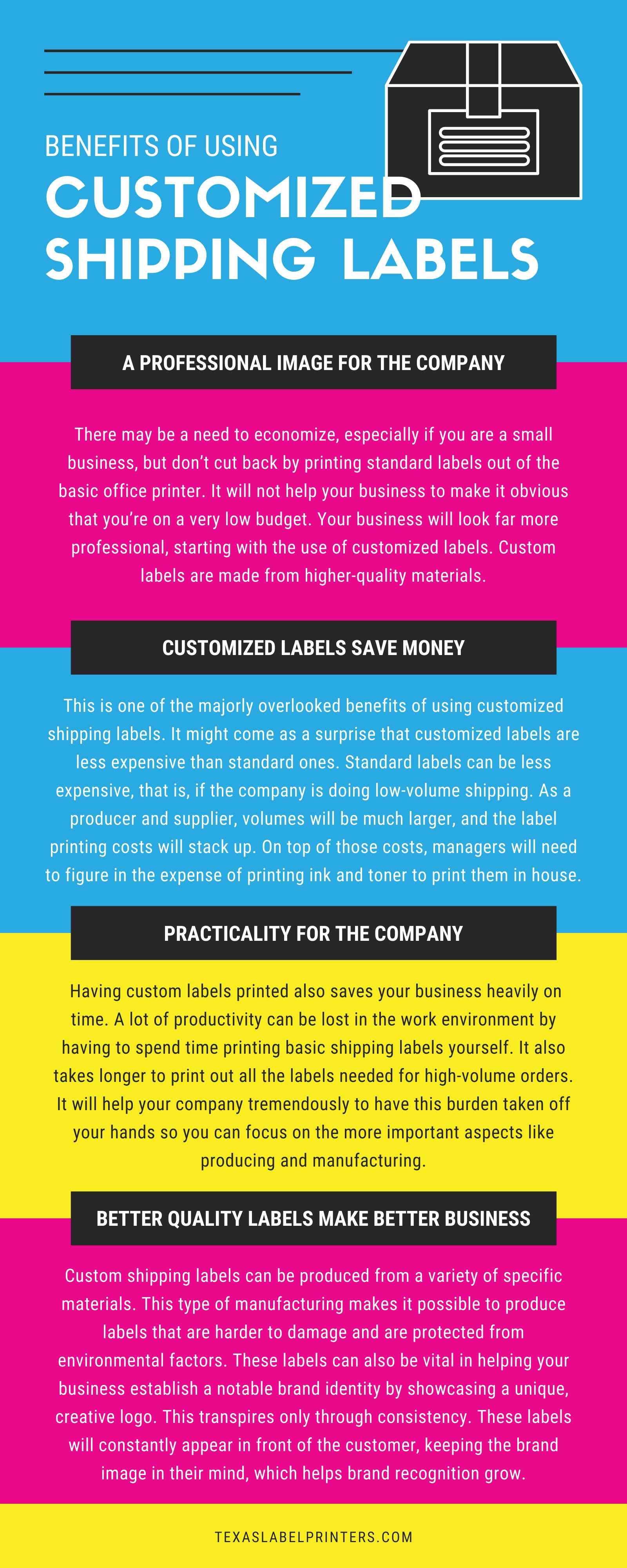 Benefits of Using Customized Shipping Labels Infographic
