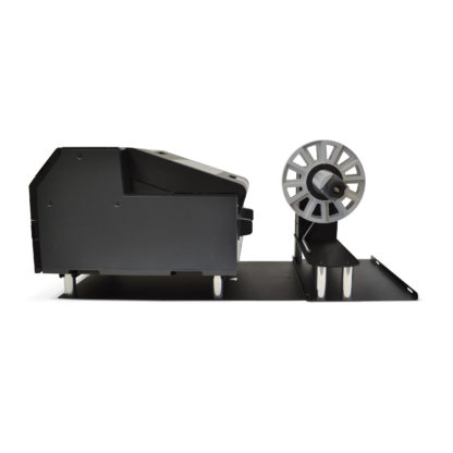 DPR UW6000P Unwinder for Epson ColorWorks C6000P shown with Printer