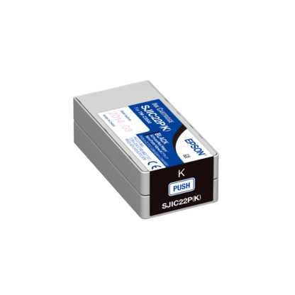 Epson ColorWorks C3500 DURABrite® Black Ink Cartridge SJIC22P(K) (C33S020577)