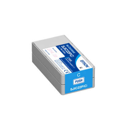 Epson ColorWorks C3500 DURABrite® Cyan Ink Cartridge SJIC22P(C) (C33S020581)