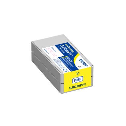 Epson ColorWorks C3500 DURABrite® Yellow Ink Cartridge SJIC22P(Y) (C33S020583)