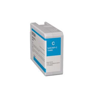 Epson ColorWorks C6000 & Epson ColorWorks C6500 UltraChrome® DL Cyan Ink Cartridge SJIC35P(C) (C13T44B220)
