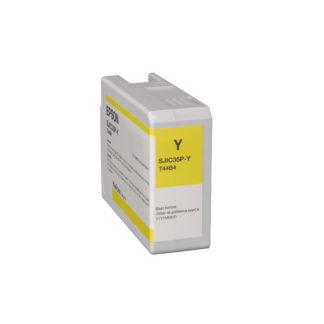 Epson ColorWorks C6000 & Epson ColorWorks C6500 UltraChrome® DL Yellow Ink Cartridge SJIC35P(Y) (C13T44B420)