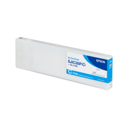 Epson ColorWorks C7500 DURABrite® Cyan Ink Cartridge SJIC26P(C) (C33S020615)