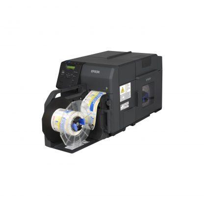 Epson ColorWorks C7500G with Optional TU-RC7508 Rewinder