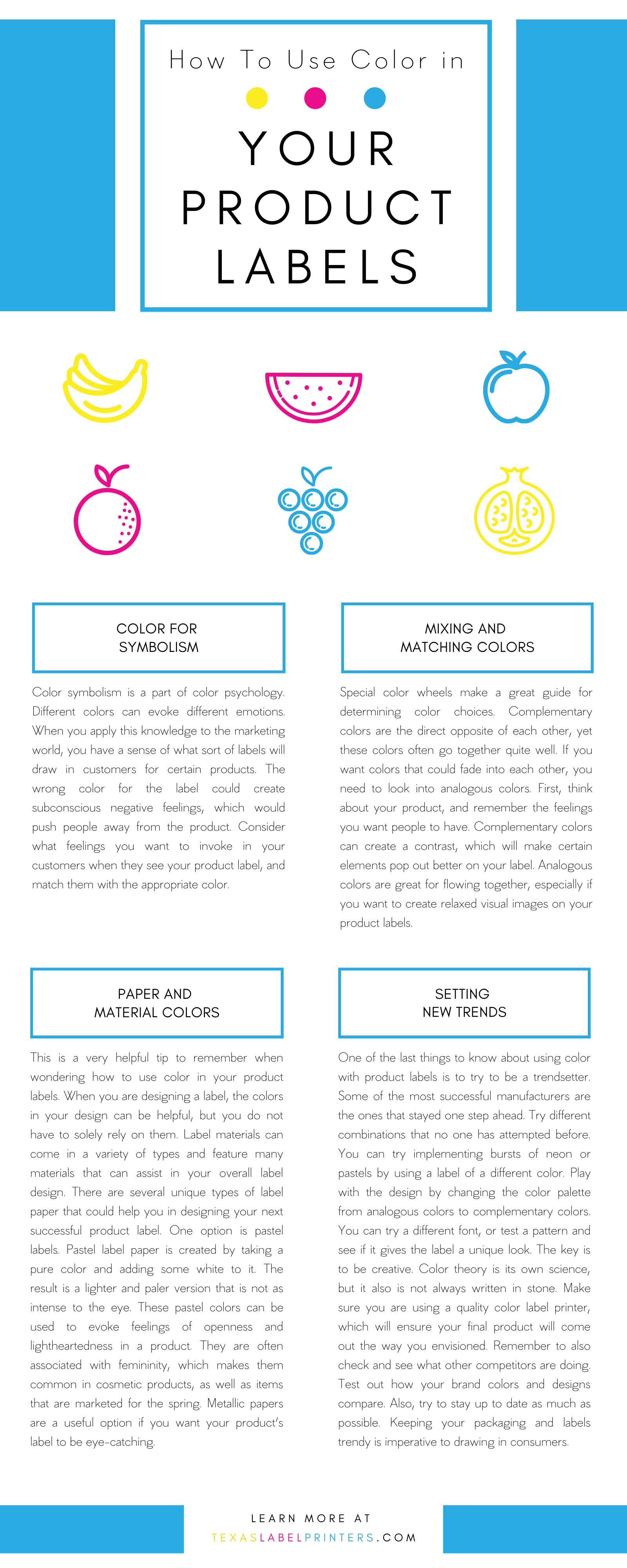 How To Use Color in Your Product Labels Infographic