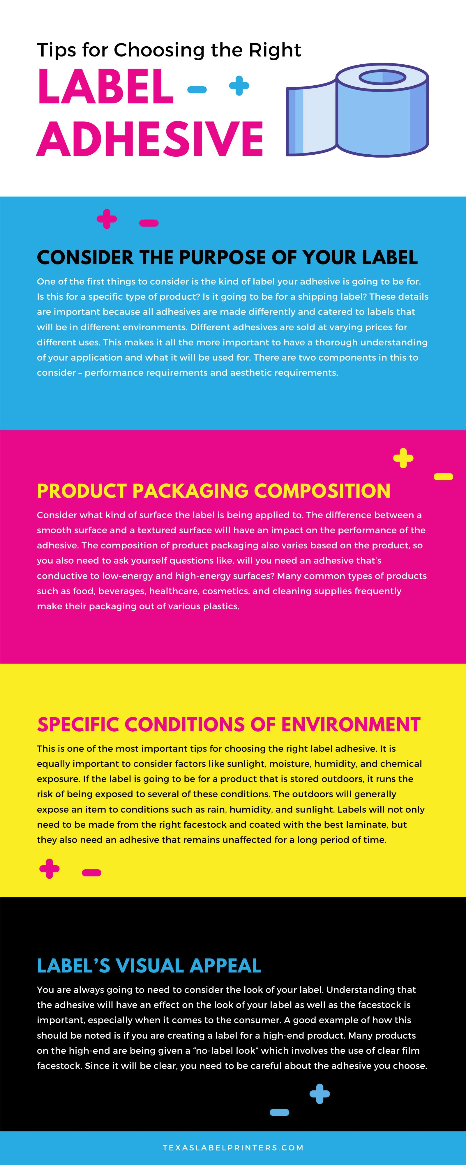 Tips for Choosing the Right Label Adhesive Infographic