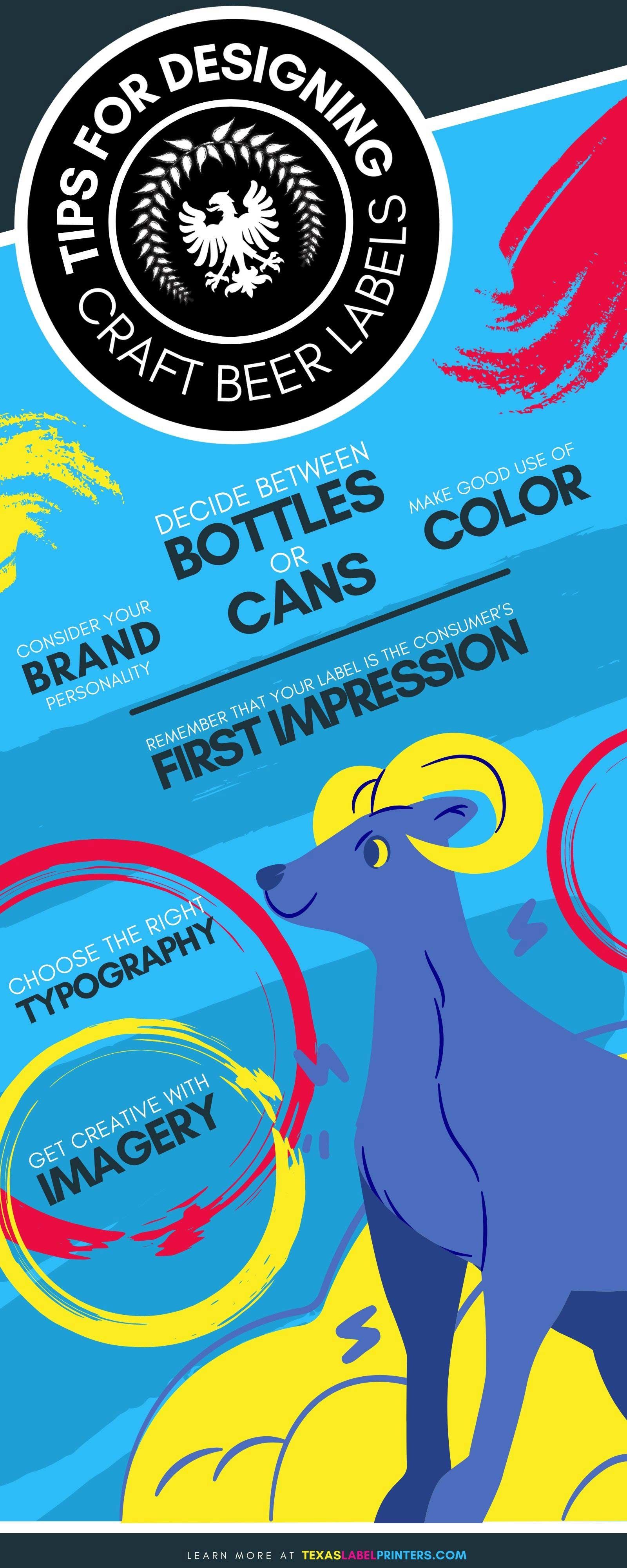 Tips for Designing Craft Beer Labels Infographic