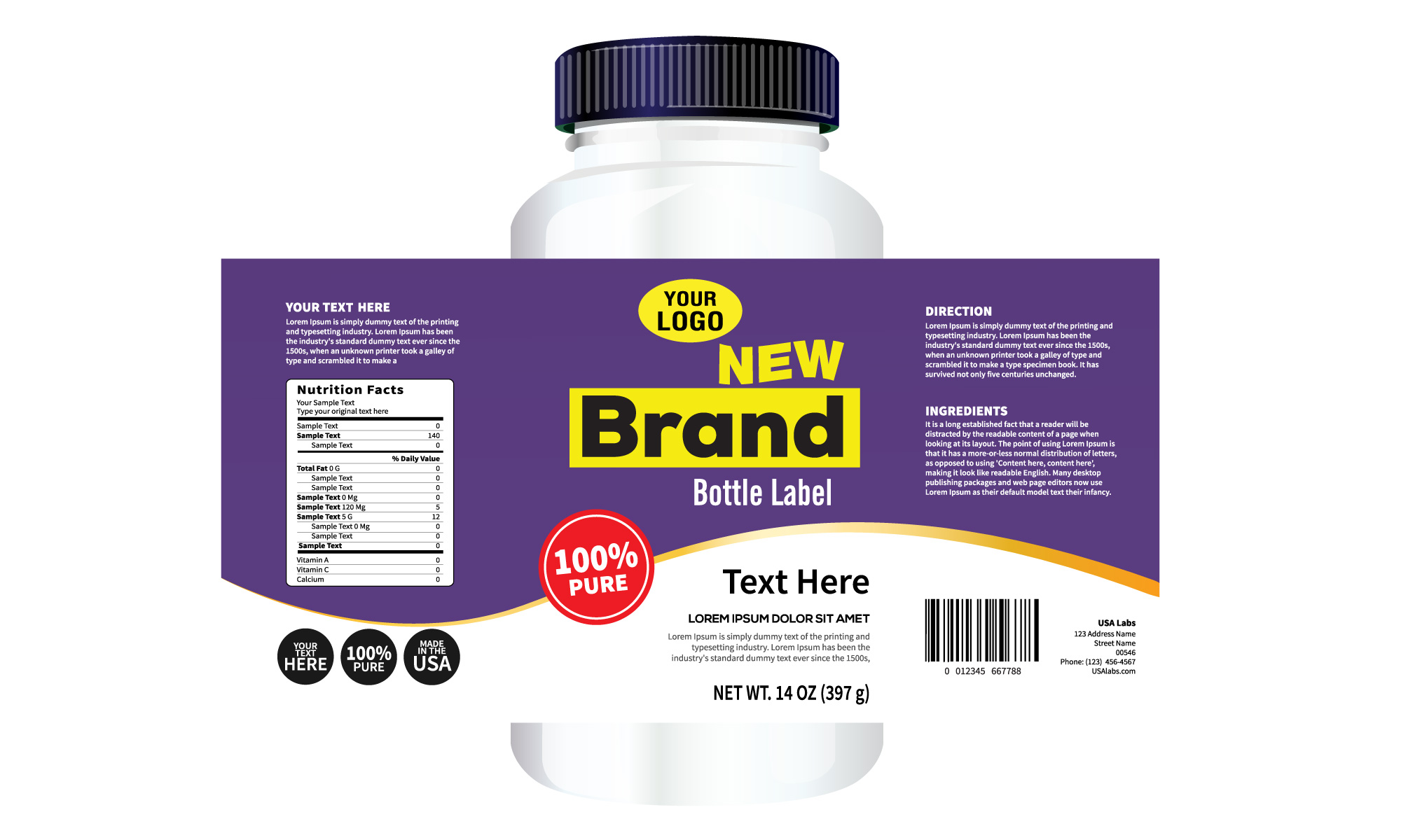 Vitamin & Supplement Label Printer