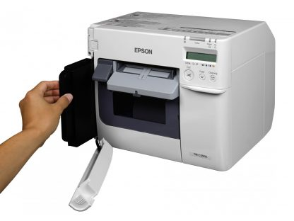 Epson SJMB3500 Maintenance Box Installation (C33S020580) in the Epson ColorWorks C3500 Label Printer