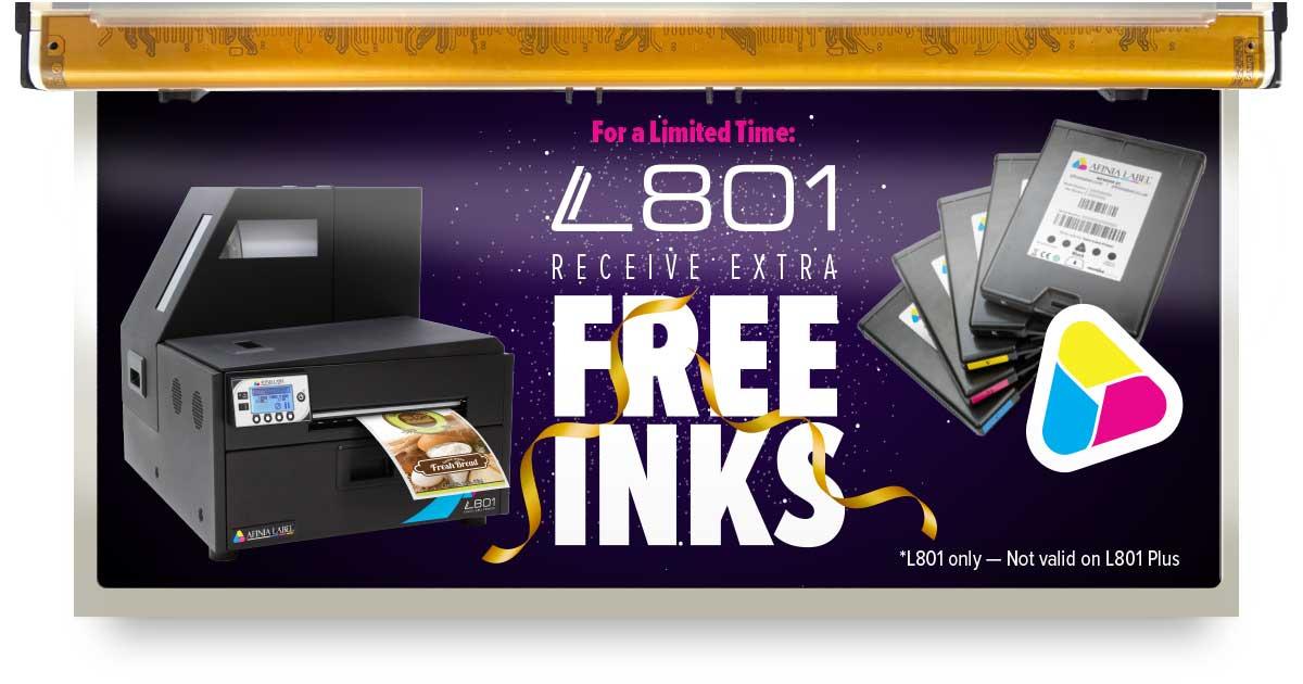 Free Afinia L801 Ink Cartridge Promotion