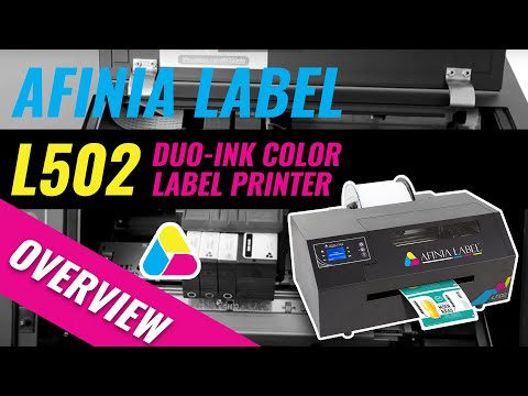 Afinia Label L502 Duo-Ink Color Label Printer - Overview