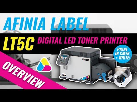Afinia Label LT5C Digital LED Toner Printer Overview - Print in CMYK + White