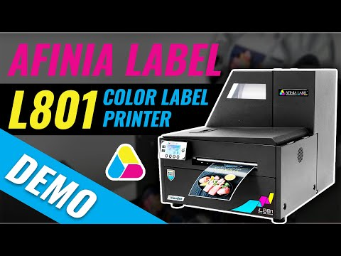Demo: L801 High Speed Color Label Printer from Afinia Label