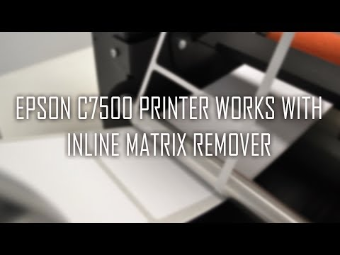 Inline matrix remover for Epson C7500 printer