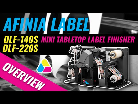 Mini Tabletop Label Finisher Series - Digital plotter-style label cutting and finishing